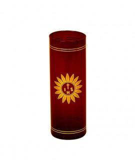 Blessed Sacrament cylindrical glass Ø 7,5 cm h. 22 cm