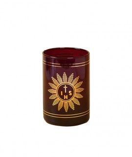 Blessed Sacrament cylindrical glass Ø 7,5 cm h. 12 cm