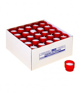 Votives with polycarbonate cup - Red cup 450 pezzi Package