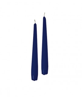 Taper candles Ø 2,2 cm h. 20 cm 50 pcs - Blue