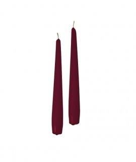 Taper candles Ø 2,2 cm h. 20 cm 50 pcs - Burgundy