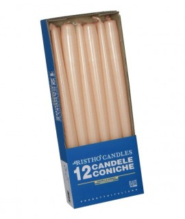 Taper candles Ø 2,2 cm h. 30 cm 12 pcs - Terracotta