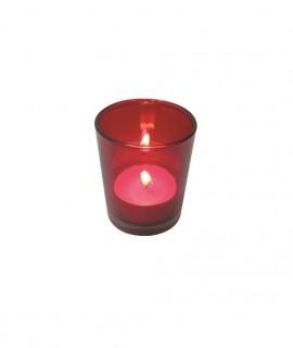 Set of 5 colored glass shot for tealights