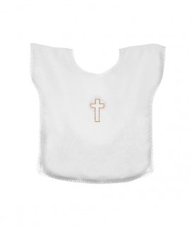 Baptismal gown with golden Cross