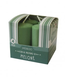 Melrose small scented pillar - Cantaloupe