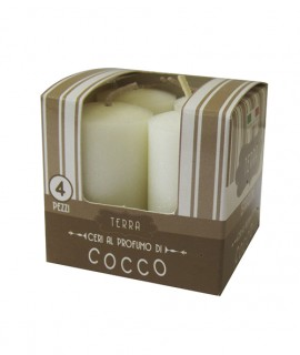 Melrose small scented pillar - Coconut