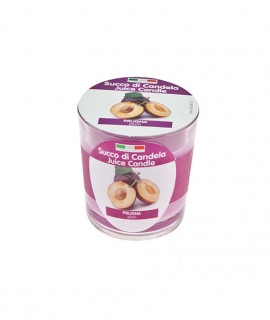 Juice Candle fruit scented candle in glass - Plum