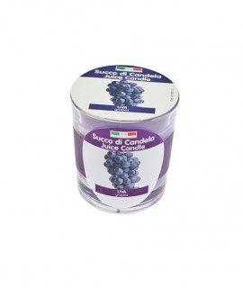 Juice Candle fruit scented candle in glass - Grapes