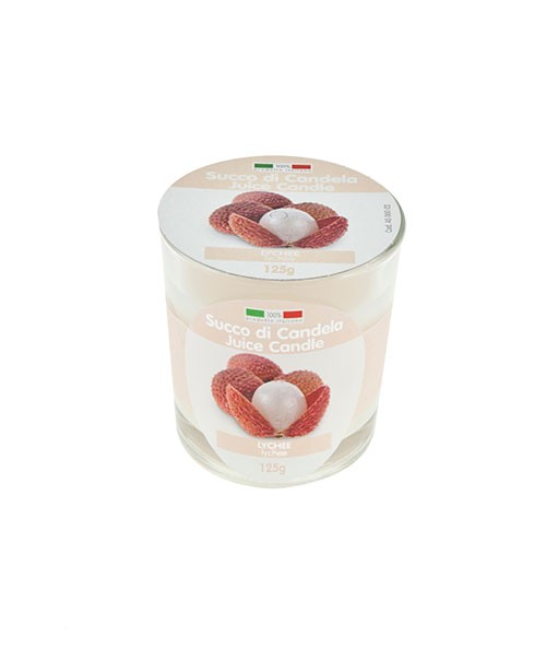 Candela profumata alla frutta in bicchiere Juice Candle - Lychee