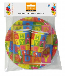 Set di complenno per la tavola - Decoro Happy Birthday
