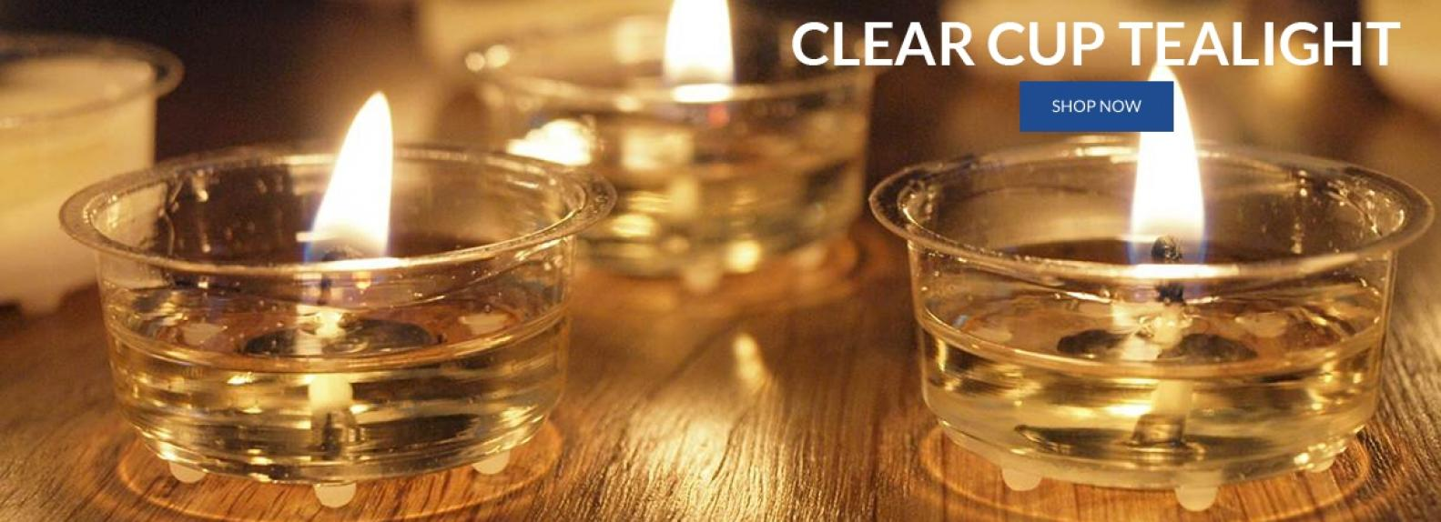 Clear cup tealight